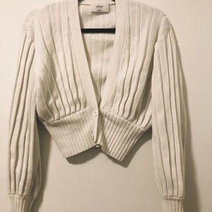 White aritzia cardigan